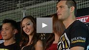 La vedette poids coq, Urijah Faber, était l'hôte des entraînements publica de l'événement UFC Macao mettant en vedette les têtes d'affiche Rich Franklin et Cung Le.