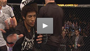 See Riki Fukuda, John Lineker, and Alex Caceres following their victories at UFC Macao: Franklin vs. Le.