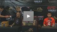 Les vedettes de l'UFC Macao discutent de l'événement historique lors de la conférence de presse d'après-combat.