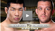 Jiu-jitsu black belt and promising talent Tom DeBlass plans on showcasing even more in his middleweight debut against one of the roughest and toughest fighters at 185 pounds, Japanese standout Riki Fukuda.