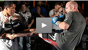 "Follow UFC welterweight contender Martin ""The Hitman"" Kampmann as he shows you what goes on behind the scenes at open workouts."