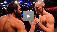 Welterweights Martin Kampmann and Johny Hendricks meet at weigh-ins a day before they vie for the chance to fight the winner of UFC 154's main event.