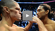 UFC lightweight champion Benson Henderson and top contender Nate Diaz get intense at the UFC on FOX weigh-ins.