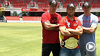 UFC on FX 6: UFC Stars Learn Australian Rules Football