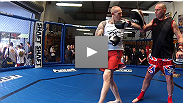 TUF Smashes finalists Colin Fletcher, Norman Parke, Brad Scott, and Robert Whittaker show off their skills at the UFC on FX open workouts.