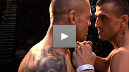 Headliners George Sotiropoulos and Ross Pearson get intense at the UFC on FX weigh-in.