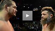 Headliners Roy Nelson and Matt Mirione, and TUF 16 finalists Colton Smith and Mike Ricci make weight and square up at the TUF 16 Finale weigh-in.