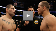Junior dos Santos defends the UFC heavyweight title against he man he beat to get it, Cain Velasquez. Plus Joe Lauzon and Jim Miller meet in lightweight scrap guaranteed to be a barnburner. Watch UFC 155 live on ESPN.