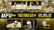 Watch 8 free fights from Junior Dos Santos and Cain Velasquez leading up to their heavyweight title showdown on Saturday Dec. 29th.  Click on each of the fight video previews to link out to the full fight.