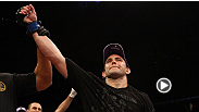 Alan Belcher uses a powerful slam to set up a submission of Patrick Cote at UFC 113.