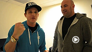 Dana White's 2nd vlideo blog for UFC 155 is a behind the scenes look into UFC on FOX 5. Nick the Tooth shows up with no room booked (like always) and proceeds to lick a gum wall.  Also, Rob Dyrdek gives his UFC 155 Main Event fight picks.