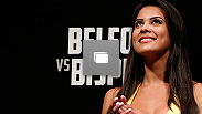 Meet the new UFC Octagon Girls Camila Rodrigues de Oliveira and Aline Caroline Franzoi at the UFC on FX official weigh-in event on January 18, 2013 at Ibirapuera Gymnasium in Sao Paulo, Brazil. (Photo by Josh Hedges/Zuffa LLC/Zuffa LLC via Getty Images)