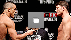 UFC&reg; on FX: Belfort vs Bisping Pesaje Fotogaler&iacute;a