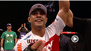 "Vitor Belfort proves he's still got a few tricks left up his sleeve, stopping Michael Bisping with a head kick in the second round. hear what ""The Phenom"" had to say following his victory."