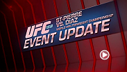 UFC® Welterweight Champion Georges St-Pierre takes on bitter rival Nick Diaz in a highly-anticipated match-up on March 16 at Bell Centre in Montreal.