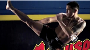 "UFC fighter Anthony Pettis does his signature showtime kick on a jello mold. - IN SLOW MOTION - in this episode of ""Fighter vs. Food."""