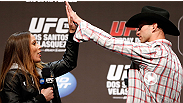 UFC women's bantamweight contender Liz Carmouche dropped by the UFC 155 Q&A with Donald Cerrone to discuss her title shot against Ronda Rousey at UFC 157.