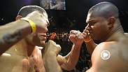 "At the UFC 156 weigh-in, heated rivals Alistair Overeem and Antonio ""Bigfoot"" Silva pick up where they left off at Media Day, sharing some choice words during their faceoff."