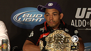 """Frankie was a great champion."" Hear from Jose Aldo and Frankie Edgar at the UFC 156 post-fight press conference."