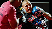 Featherweight powerhouses Cub Swanson and Dustin Poirier show off their skills, answer media questions, and break down each other's style at the UFC on FUEL TV open workouts.