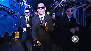 James Te Huna channels Will Smith's Men in Black style for his memorable London walkout.