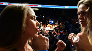 UFC women's bantamweight champion Ronda Rousey and challenger Liz Carmouche face off before their main event at UFC 157.
