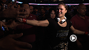 Take an exclusive look behind the scenes of the historic women's bantamweight title fight between Ronda Rousey and Liz Carmouche at UFC 157.