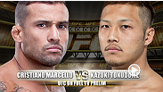 Winner of 6 of his last 7 fights the versatile Kazuki Tokudome will make his UFC debut against Brazilian Jiu-Jitsu expert Cristiano Marcello seeking his second UFC victory.