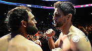 Carlos Condit and Johny Hendricks weigh in and face off prior to their pivotal bout at UFC 158.