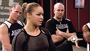 UFC bantamweight champion Ronda Rousey passes along some words of wisdom from her mother to a rapt Team Sonnen.