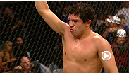 Sao Paulo's Rodrigo Damm steps in at the last minute to pit his jiu-jitsu experience against the fast paced Gilbert Melendez who brings a deadly ground game and strategic striking ability to this light weight match-up.
