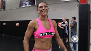 A warrior ready to put it all on the line, UFC debutant Cat Zingano is still giddy during her first-ever fight week.
