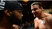 Things get chippy between Frank Mir and Daniel Cormier at the UFC on FOX 7 weigh-in.
