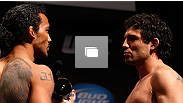 Pesagem do UFC Henderson x Melendez no California Theatre em 19 de abril, 2013 em San Jose, California. (Foto de Josh Hedges/Zuffa LLC/Zuffa LLC via Getty Images)