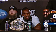 Full archive of the UFC 159 post-fight press conference with Jon Jones, Chael Sonnen, Michael Bisping, Roy Nelson, Phil Davis, Pat Healy and Sara McMann.