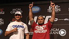 Four sluggers from two weight classes talk about their potential for KOs, title shots and bonus money: Junior dos Santos faces Mark Hunt at heavyweight while Donald Cerrone fights KJ Noons at lightweight.