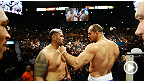 Nocauteadores Junior Cigano e Mark Hunt se pesam e se encaram para o lutão do UFC 160.