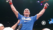 Former heavyweight champion Junior dos Santos earns a rematch with Cain Velasquez after knocking out Mark Hunt witha spinning head kick. Hear what he had to say following his impressive win.
