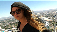 Ronda Rousey experiences some Las Vegas attractions as she tours the aquarium at the Mandalay Bay and gets shot to the top of the Stratosphere.