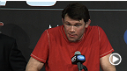 Former UFC light heavyweight champion calls it a career at the UFC 160 post-fight press conference.