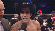 Featherweight Felipe Arantes TKOd Godofredo Pepey and bantamweight Raphael Assuncao submitted Vaughan Lee in Fortaleza - hear from these finishers after their wins.