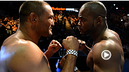 Watch light heavyweight headliners Rashad Evans and Dan Henderson's serious post-weigh-in staredown prior to their UFC 161 main event.