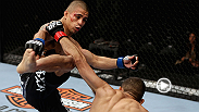 Current UFC flyweight contender John Moraga didn't even need a full round to finish his first-ever foe inside the Octagon.