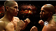 Feel the intensity rise and see the staredowns between flyweight champion Demetrious Johnson and top challenger John Moraga, along with welterweight contenders Rory MacDonald and Jake Ellenberger at the UFC on FOX 8 weigh-in.
