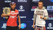 UFC 163 stars Jose Aldo, Chan Sung Jung, Lyoto Machida and Phil Davis talk game plans, pressure to perform and the glory of Brazil before working out for the media.