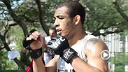 Featherweight champ Jose Aldo puts his belt on the line when he goes toe-to-toe in the Octagon against the extremely dangerous Korean Zombie. Go inside his fight camp in Brazil and see how he made mid-course changes to prepare for this perilous opponent.
