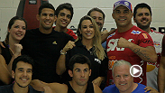 Former champion Vitor Belfort opens the doors of his new Rio facility to the media and leads an MMA class alongside current champion Dominick Cruz.