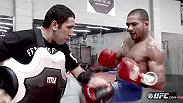 Fighters and coaches at the Jackson/Winkeljohn MMA Academy in Albuquerque discuss the focus, skill, and intensity that Season 14 TUF featherweight winner Diego Brandao brings to the Octagon as he prepares for his battle with Daniel Pineda.