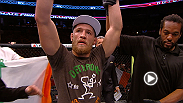 Irish import Conor McGregor proves he's worth the hype with a solid decision win over fellow striker Max Holloway, while Michael McDonald rebounds after his title shot with a crazy war and second-round finish of Brad Pickett.