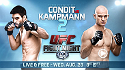 Four years ago Carlos Condit and Martin Kampmann battled to a tightly contested split decision.  Tomorrow, the two fighters will get to do it all over again as they meet in the main event at UFC Fight Night.